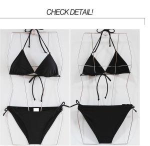 Balck Simple Thin Slim Cheap Wholesale Custom Low Price Bikini pictures & photos