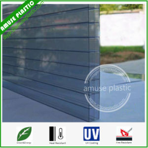 Ten Years Warranty PC Hollow Panel Grey Colors Polycarbonate Triple-Wall Sheet pictures & photos