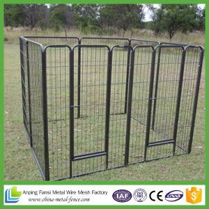 Square Corner Design Black Powder-Coat Dog Kennels for Us Market pictures & photos