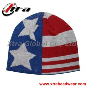 American Flag Beanie (XT-W003) pictures & photos