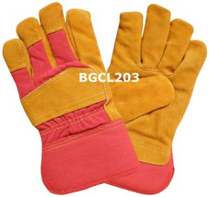 Split Cow Leather Work Gloves