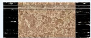 1200X280mm Coffee Silk Screen Glazed Polished Stair Tile (10483) pictures & photos