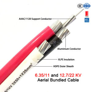ASTM Standard 11kv Aluminum XLPE Insulated ABC Power Cable pictures & photos
