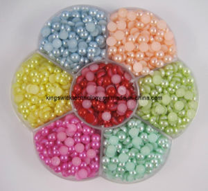 Wholesale Half Round Pearl! ! Colorful ABS Round Faltback Half Pearls pictures & photos