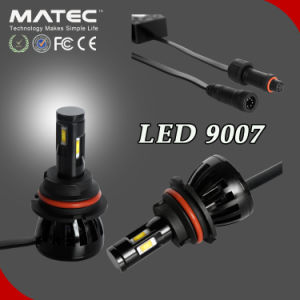 Matec LED Headlight for Car/Truck 12V 24V 96W 9600lm 4 Sides Chip LED 9007 pictures & photos