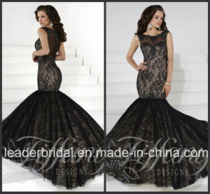 Mermaid Black Lace Party Prom Dresses Fashion Vestidos Evening Dress TF16105 pictures & photos