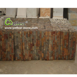 Natural Slate Rusty Brown Culture Stone Veneer with Best Price pictures & photos