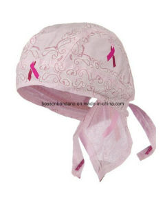 OEM Produce Customized Logo Printed Pink Cotton Promotional Girl′s Pink Bandana Head Wrap Caps pictures & photos