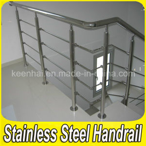 Satin Finish 304 Stainless Handrail Steel Railing for Stairs pictures & photos
