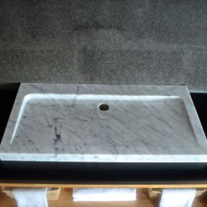 Competitive Price Italy White Marble Bathroom Vessel Sinks pictures & photos