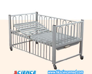 Steel Manual Single-Rocker Kids/Children Hospital Bed pictures & photos