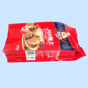Plastic Quad Seal Food Pouch, 4 Side Seal Pouch with Gusset, Biscuit Packaging Pouch pictures & photos