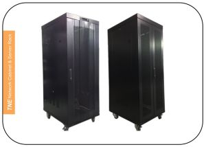 Server Rack with LCD Control Panel (Front and Rear Perforated Door) pictures & photos
