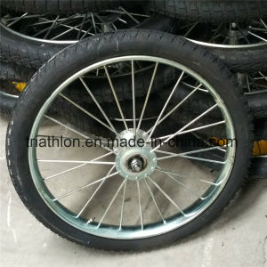 26X2.125 26X2 Flat Free PU Foam Solid Tire with Spoked Steel Rim pictures & photos