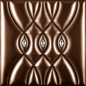 China Suoya 1085-16 Embossed 3f Leather Panel Board for Wall Decoration pictures & photos