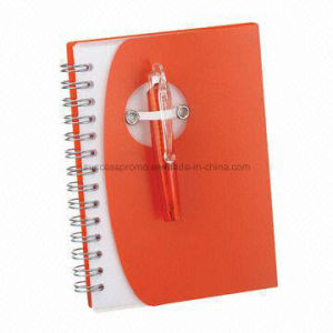 Custom Student Notebook PP Cover Spiral Notebook with Pen pictures & photos