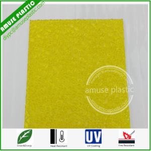Corrugated Plastic Sheets Polycarbonate Roofing Rolls PC Diamond Embossed Panels pictures & photos