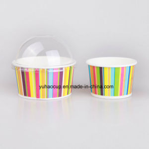 8oz Biodegradable Paper Ice Cream Cups with Lids (YHC-015) pictures & photos