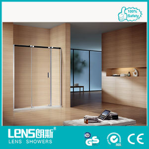 10mm Tempered Glass Hinge Door Stainless Steel Shower Screen Damrey P31