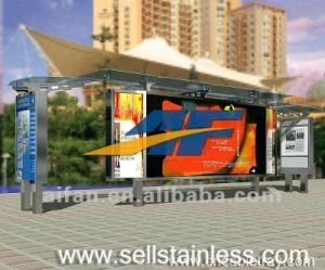 Stainless Steel Bus Shelter Light Box Design
