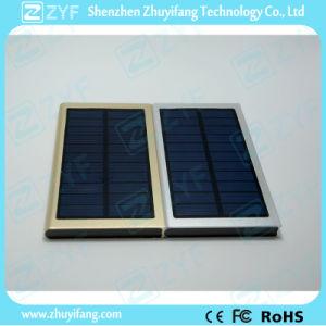 6000mAh Dual USB Port Super Thin External Battery Aluminum Solar Power Bank (ZYF8079)