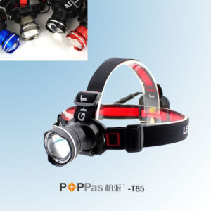 Fisheye Deisgn CREE Xm-L T6 Brightest LED Headlamp (POPPAS- T85) pictures & photos