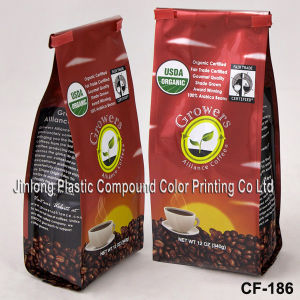 Manufacturer Wholesale Quad-Seal Aluminum Foil Pouch, Plastic Coffee/Tea Packaging Bag with Valve pictures & photos