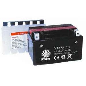 Dry-Charged Maintenance Free Motorcycle Battery Ytx7a-Bs with CE UL SGS Certificate pictures & photos