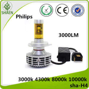 12V 3000lm Auto LED Car Headlight H4 pictures & photos