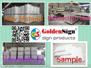 Noble Brand in The World Goldensign PVC Celuka Sheet pictures & photos