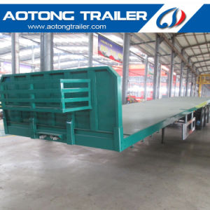 12.5m Length 40FT Flatbed Semi Trailer for Carrier Container pictures & photos