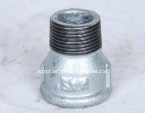 Beaded Galvanized Socket with Ribsmalleable Iron Pipe Fittings pictures & photos