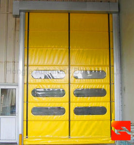 Automatic Fast Rolling Shutter Industrial Folding Door (HF-1018) pictures & photos