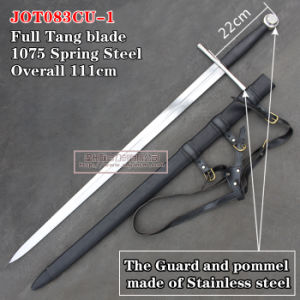 Handmade Medieval Swords with Scabbard 111cm Jot083cu-1 pictures & photos