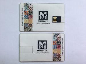 Company Giveaways DIY Logo Paper Sticker Business Card Flash Drive Transparent Wafer Card USB Stick pictures & photos