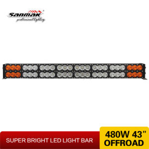 "43"" 480W Double Rows White & Amber LED Light Bar pictures & photos"
