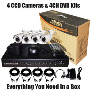 """4CH DVR Kits 1/3"""" Sharp 960h CCD Outdoor Cameras pictures & photos"""