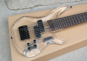 Hanhai Music/Transparent Acrylic Electric Bass Guitar with 7 Strings pictures & photos