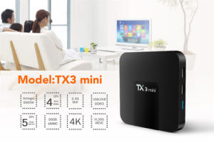New Arrival Tx3 Mini 1GB or 2GB RAM 16GB ROM Amlogic S905W Quad Core Android 7.1 TV Box pictures & photos