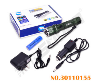 Aluminium Alloy LED Torch Rechargeable Flashlight with Lowest Price pictures & photos