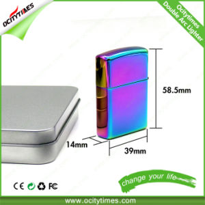 Ocitytimes Rechargeable Windproof Double Arc Electric USB Cigarette Lighter pictures & photos
