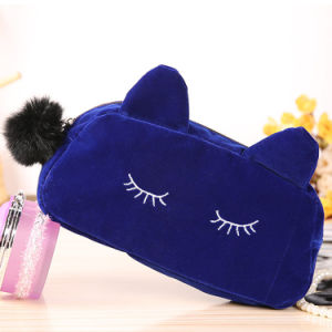 Playful Cat Large Capacity Cosmetic Bag Korea Cute Clutch Bag Package Small Purse or Wallet 50g pictures & photos