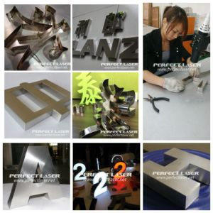 300W Dual Path Advertising 3D Channel Letter Signs Fiber Laser Welding Machines pictures & photos