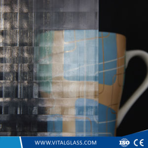 3-6mm Clear Tempered Hishicross Figured/Patterned Glass/Decorative Glass with Ce&ISO9001 pictures & photos