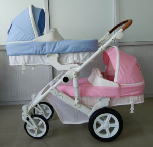 New Design Luxury Fold Baby Double Stroller with European Approved pictures & photos