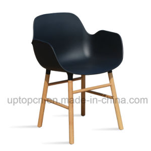 Plastic Chair with Solid Wood Legs for Restaurant Used (SP-UC534) pictures & photos