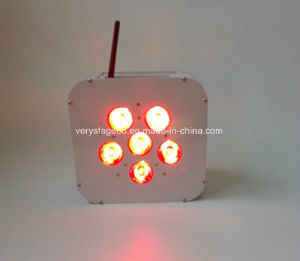 6X10W RGBW Disco LED Stage Lighting /Battery Powered-Wirelessrgbwa UV LED PAR Light pictures & photos