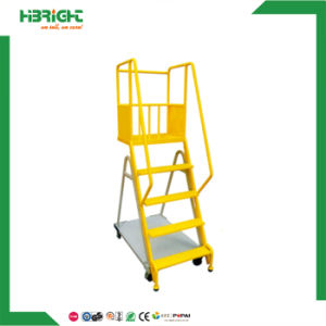 Movable Step Climbing Truck Ladder Movable Ladder Cart pictures & photos