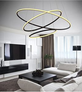 Modern Circular LED Chandelier Adjustable Hanging Light Three Ring Collection Contemporary Ceiling Pendant Light pictures & photos