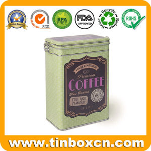 Custom Coffee Tin Box with Plastic Airtight Lid, Coffee Tin with Mechanism, Metal Tin Can, Container for Coffee Packaging pictures & photos